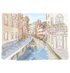 Venice watercolor style vector