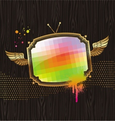 Vintage tv screen vector