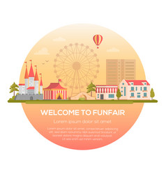 Welcome to funfair - modern vector
