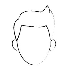 young guy people face character image vector image vector image