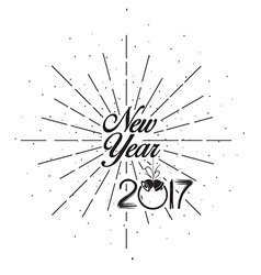 Happy new 2017 year holiday with lettering composi vector