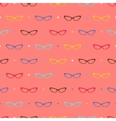 Glasses pattern vector image