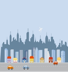 Cityscape downtown skyline vector