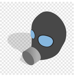 Gas mask isometric icon vector