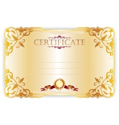 Horizontal royal certificate with lace pattern vector
