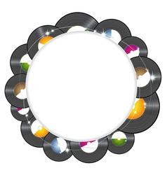 Vinyl music background vector