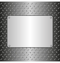 Metallic plaque vector