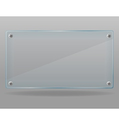 Transparent glass plate 01 vector