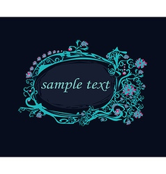 Abstract frame with space for your text vector