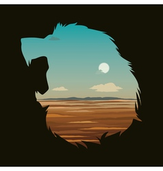 With lion head vector