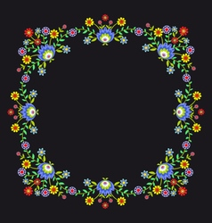Folk pattern flowers-b vector