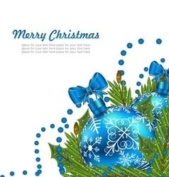 Greeting Postcard with Christmas Balls vector image