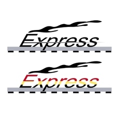 Logo locomotive vector