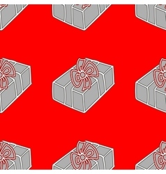 Gift seamless holiday pattern vector