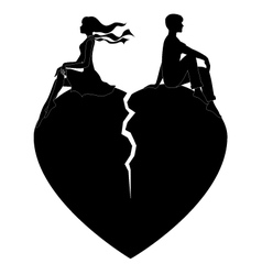 Lovers quarrel boys and girls on white vector