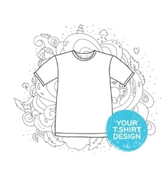 Blank t-shirt design concept hand drawn style vector