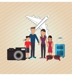 Flat of family design vector