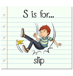 Flashcard letter s is for slip vector