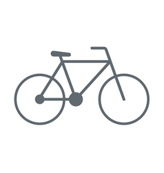 bike icon vector image