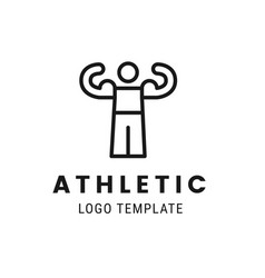 athletic man lgoo template people healthy life vector image vector image