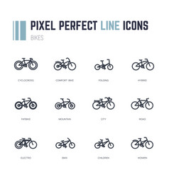 bike frames icons vector image