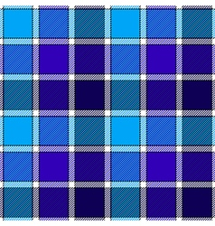 Blue ice check plaid seamless pattern vector
