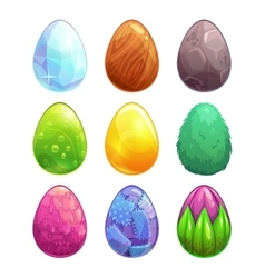 Cartoon eggs set vector