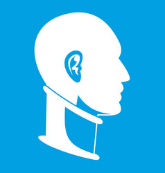 Cervical collar icon white vector