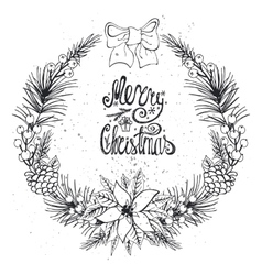 Christmas greeting card with citrusspiceblack vector
