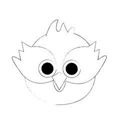 cute owl bird cartoon vector image