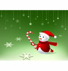 cute snowman vector image vector image
