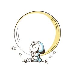 dreamy puppy vector image vector image