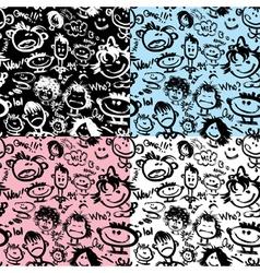faces seaml 380 vector image