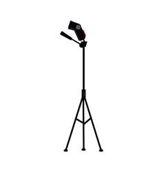 flat studio flash light at tripod vector image
