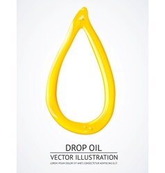 Glossy yellow liquid drop vector image vector image