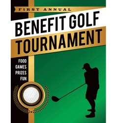 Golf tournament silhouette flyer vector