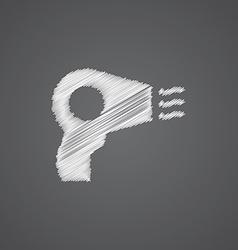 Hairdryer sketch logo doodle icon vector