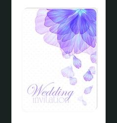 Invitation with watercolor flower petals vector