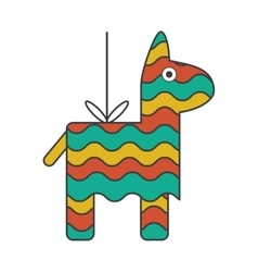 Isolated mexican pinata design ioon vector