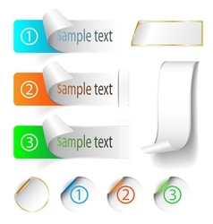 labels and stickers vector image vector image