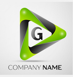 letter g logo symbol in the colorful triangle on vector image vector image