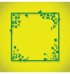 Lime green floral box vector