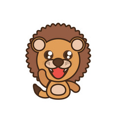 Lion baby animal kawaii design vector