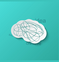 modern brain icon on blue background vector image vector image