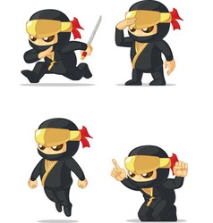 Ninja customizable mascot vector