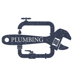 plumbing service design for vector image