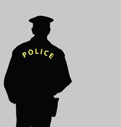 policeman silhouette vector image