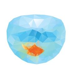 Polygonal gold fish2 vector