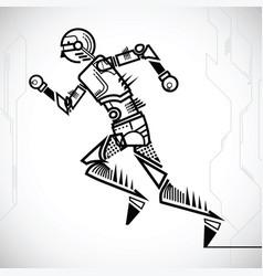 Robot runing vector