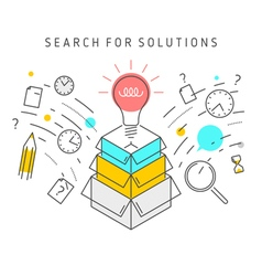 search for solution concept vector image